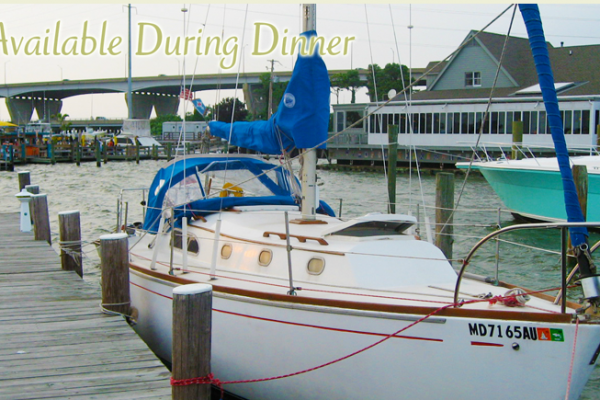 Slips Available during dinner Oysters Rockafeller at The Narrows Restaurant