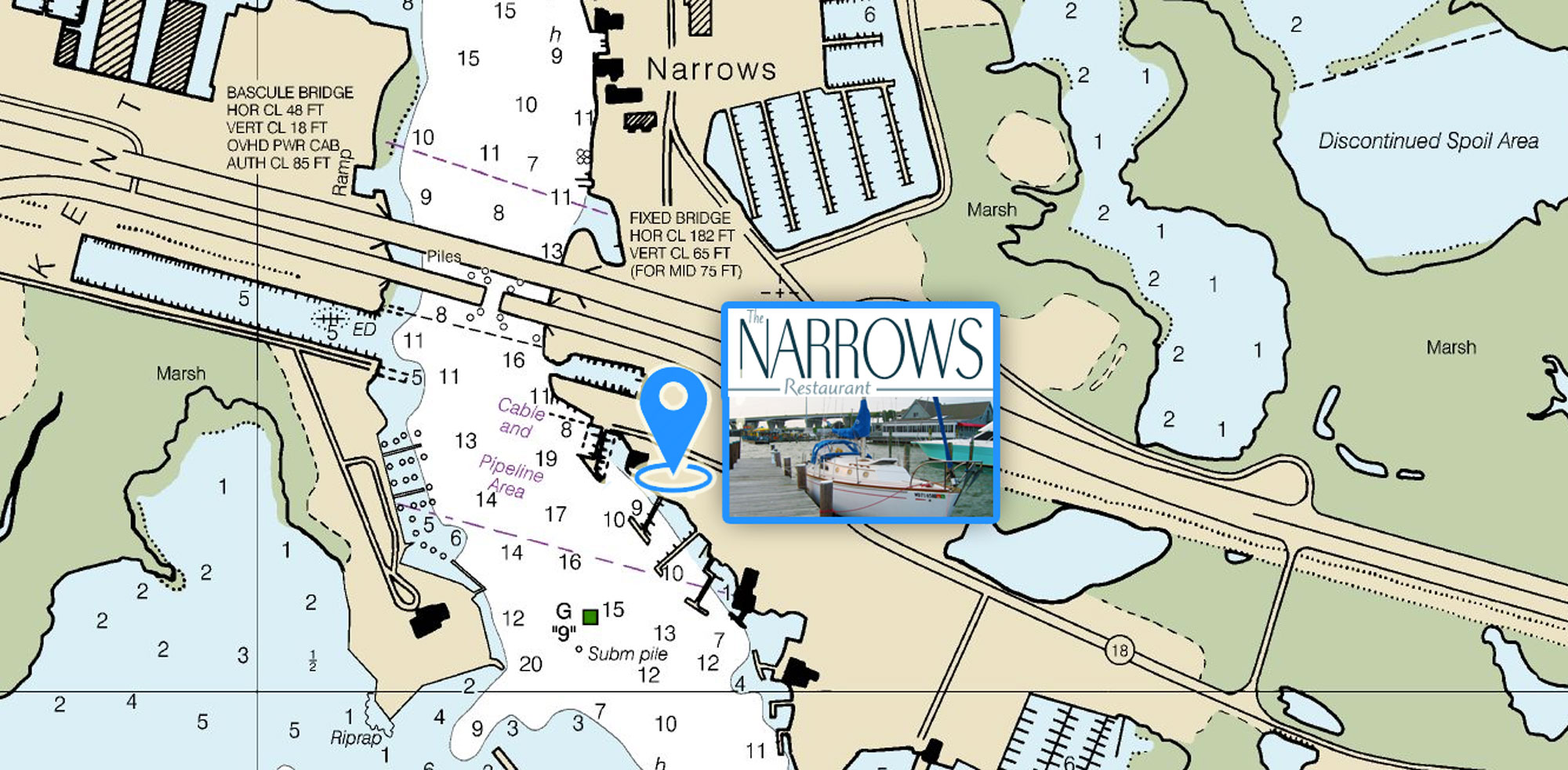 Free Docking for The Narrows Restaurant Guests