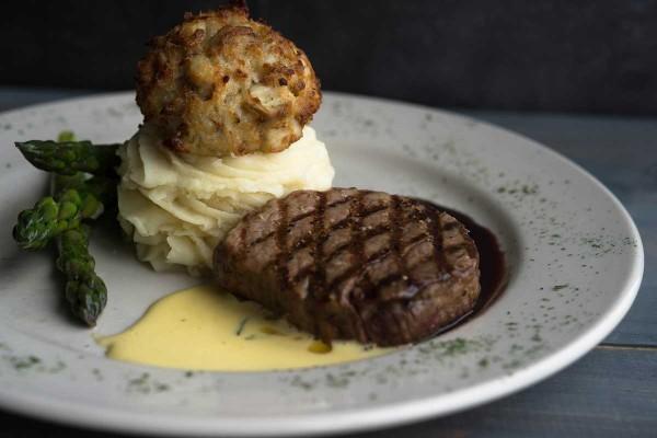 Steak & Crab Cake at The Narrows Restaurant